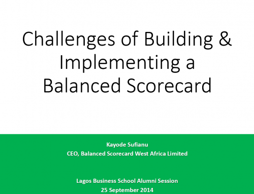 Challenges of Building & Implementing a Balanced Scorecard